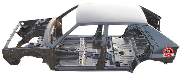 Cataphorèse coques auto cataforesi Sverniciatura trattamento scocca auto epoca Torino Italia Europa