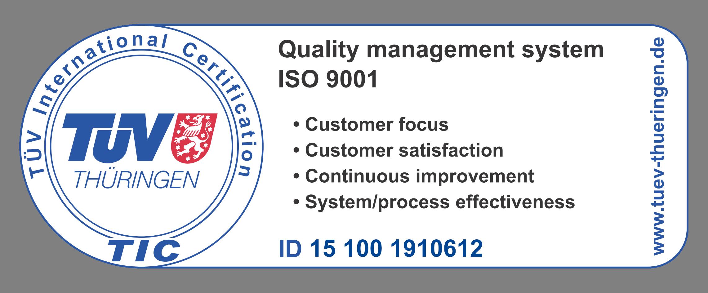 Certificato qualità Zeichen